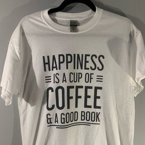 Happiness is a cup of coffee adult t-shirt